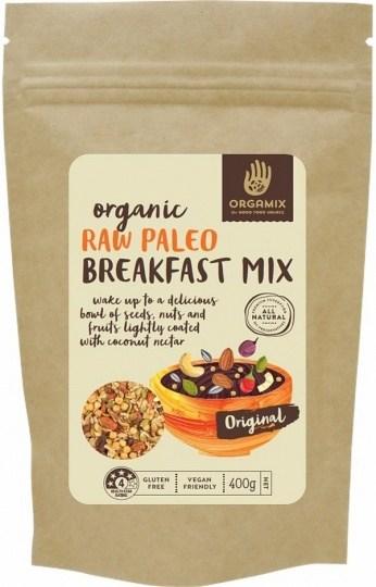 Orgamix Organic Raw Paleo Breakfast Mix Original  400g