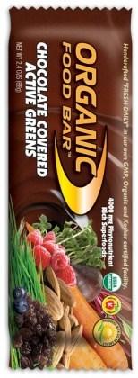 Organic Foodbars Active Greens Choc Covered + Probiotics 12x68g APR16