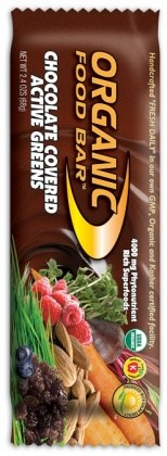 Organic Foodbars Active Greens Choc Covered + Probiotics 12x68g