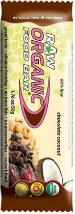 Organic Foodbars Raw Chocolate Coconut 12x50g