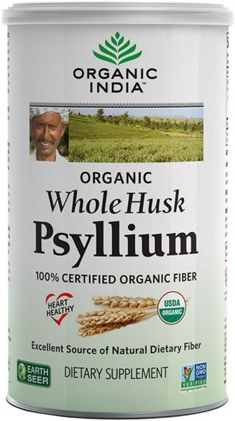Organic India Organic Whole Husk Psyllium 340g