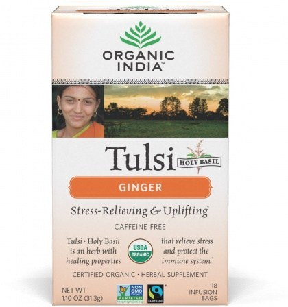 Organic India Tulsi Ginger Tea 18Teabags