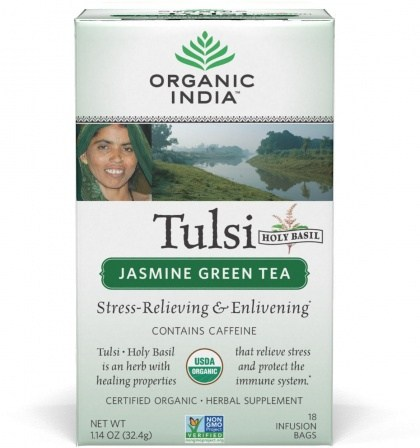 Organic India Tulsi Green Jasmine Tea 18Teabags