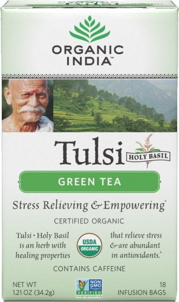 Organic India Tulsi Green Tea 18Teabags