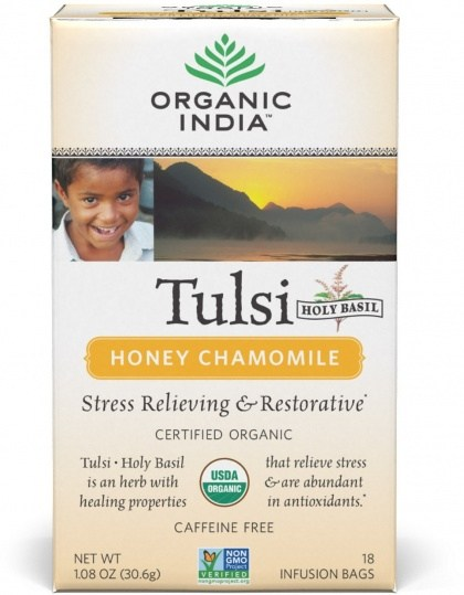 Organic India Tulsi Honey Chamomile Tea 18Teabags