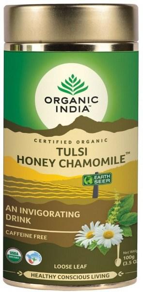Organic India Tulsi Honey Chamomile Tea Tin 100g