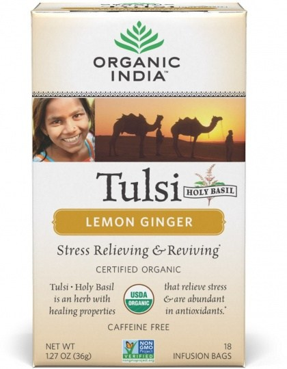 Organic India Tulsi Lemon Ginger Tea 18Teabags