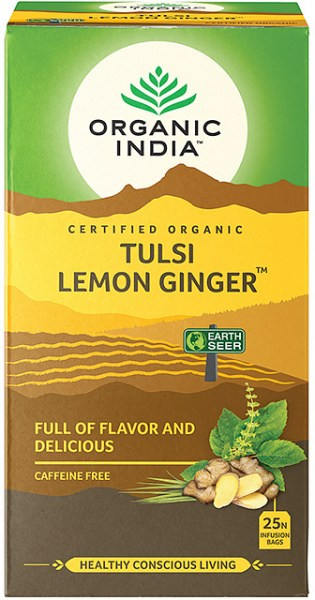 Organic India Tulsi Lemon Ginger Tea 25Teabags