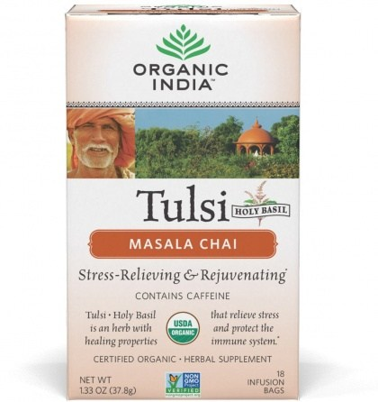 Organic India Tulsi Masala Chai Tea 18Teabags