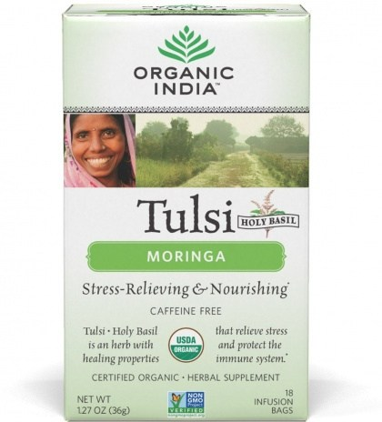 Organic India Tulsi Moringa Tea 18Teabags