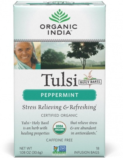 Organic India Tulsi Peppermint Tea 18Teabags