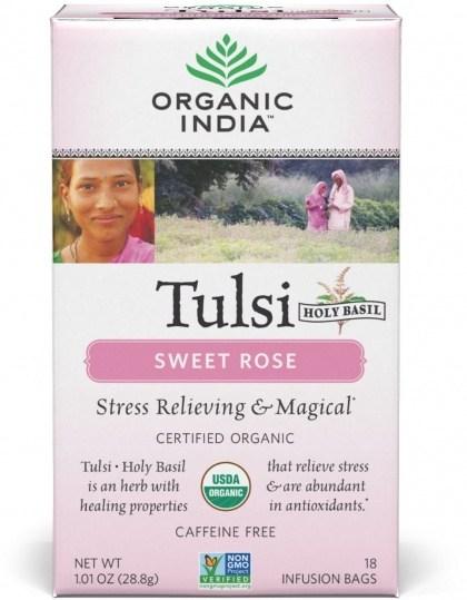 Organic India Tulsi Sweet Rose Tea 18Teabags