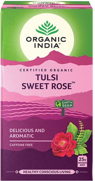 Organic India Tulsi Sweet Rose Tea 25Teabags