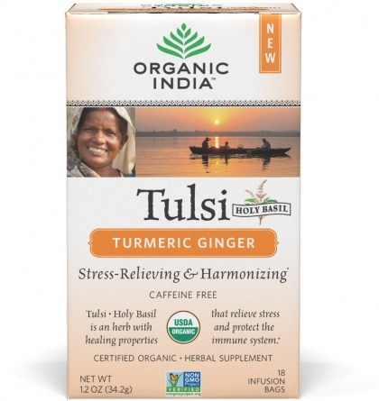 Organic India Tulsi Turmeric Ginger Tea 18Teabags