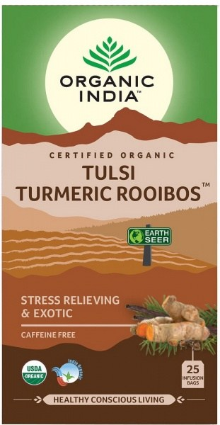 Organic India Tulsi Turmeric Rooibos 25Teabags
