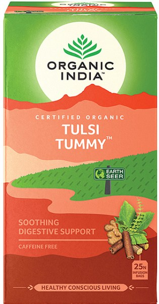 Organic India Wellness Tulsi Tummy Tea 25 Teabags