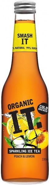 Organic IT Sparkling Iced Tea Peach & Lemon 330ml