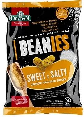 Orgran Beanies Sweet & Salty Crunchy Fava Bean Snacks 80g