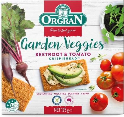 Orgran Beetroot & Tomato Crispbread  125g
