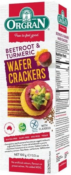 Orgran Beetroot & Turmeric Wafer Crackers  100g