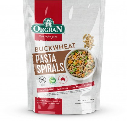 Orgran Buckwheat Spirals 250g