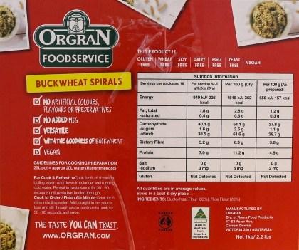 Orgran Bulk Buckwheat Spirals 4x1Kg