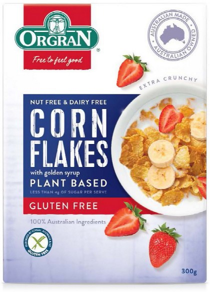 Orgran Corn Flakes Plant Based Cereal  300g