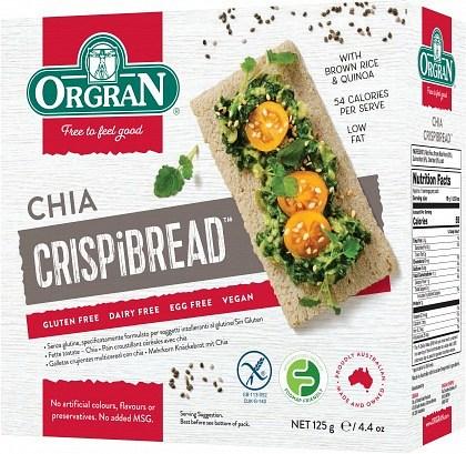 Orgran Crispibread w/Chia  125g