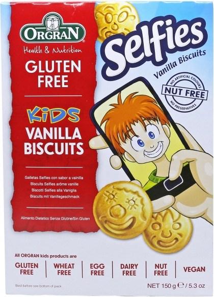 Orgran Face Biscuits Vanilla  150g