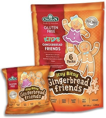 Orgran Kids Itsy Bitsy Gingerbread Friends Biscuits  6x25g