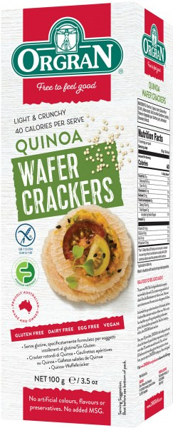 Orgran Multigrain Wafer Crackers w/Quinoa  100g