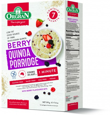 Orgran Porridge Berry 210g