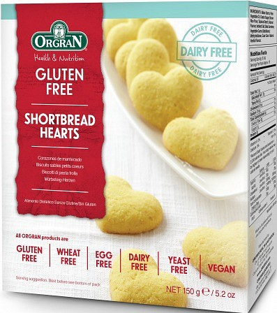 Orgran Premium Shortbread Hearts  150g