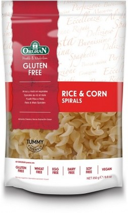 Orgran Rice & Corn Spirals 250gm