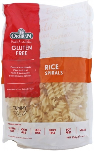 Orgran Rice Spirals 250gm