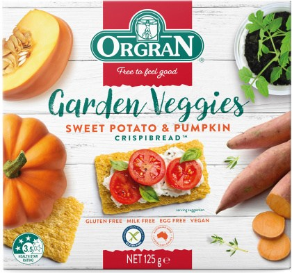 Orgran Sweet Potato & Pumpkin Crispbread  125g