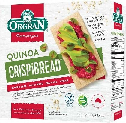 Orgran Toasted MultiGrain Crispibrd w/Quinoa 125g