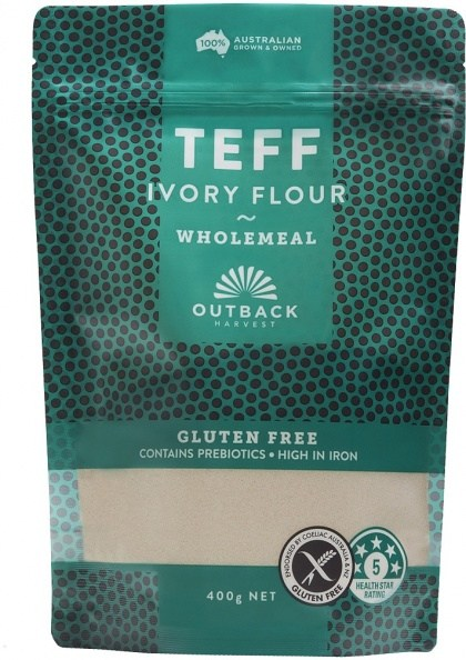 Outback Harvest Teff Ivory Flour Wholemeal 400g
