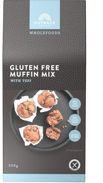 Outback Harvest Wholefoods Gluten Free Muffin Mix w/Teff 350g