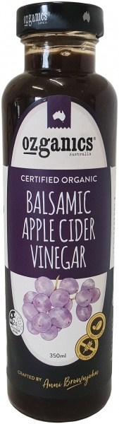 Ozganics Organic Balsamic Apple Cider Vinegar Dressing  350ml