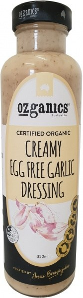 Ozganics Organic Creamy Egg Free Garlic Dressing  350ml