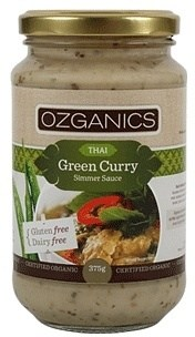 Ozganics Organic Thai Green Curry Sauce  375g