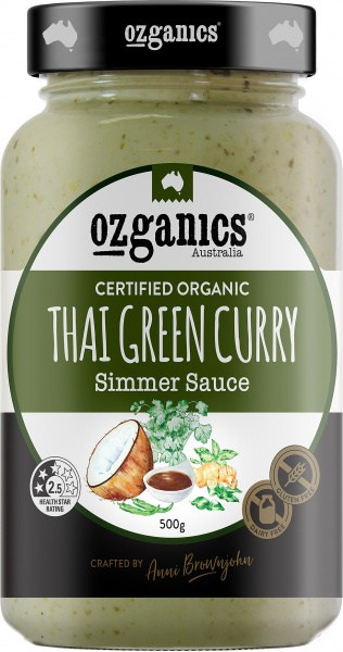 Ozganics Organic Thai Green Curry Sauce  500g