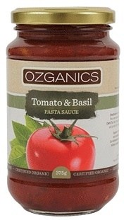 Ozganics Organic Tomato&Basil Pasta Sauce  375g