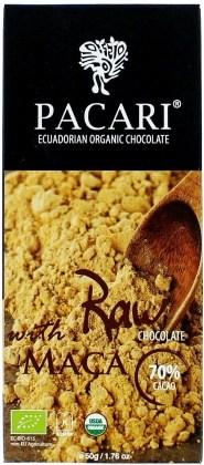 Pacari Biodynamic Raw Cacao Bars w Maca 50g FEB19