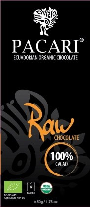 Pacari Biodynamic Raw Choc 100% Cacao Bars 50g