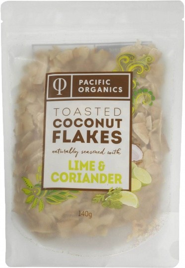 Pacific Organics Coconut Flakes Lime & Coriander 140g