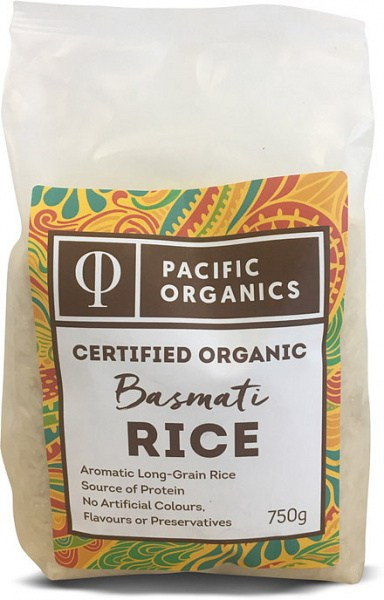 Pacific Organics Organic Rice Basmati 750g Pouch