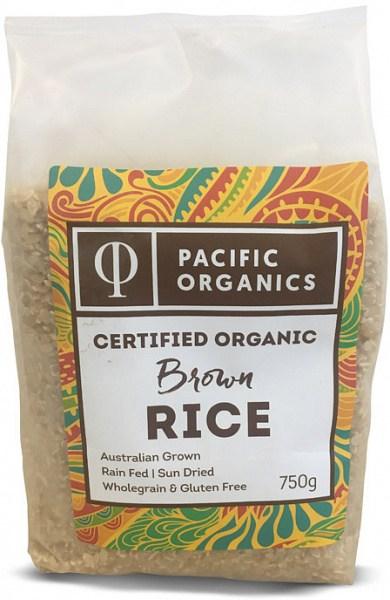 Pacific Organics Organic Rice Brown Medium 750g Pouch