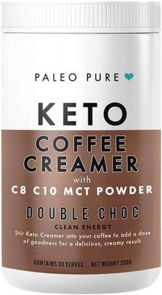 Paleo Pure Keto Coffee Creamer w/MCT Powder Double Choc 250g